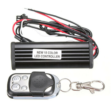 Car Motorcycle RGB Color LED Controller Remote Strip Light Kit Multi-Color